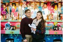 SNR | North Carolina State Fair Photo session / We wanted to photograph an unique couple session this year at the North Carolina State fair. Complete with cotton candy and candy apples!