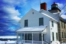 Sodus Bay Lighthouse Museum / The historic Sodus Bay Lighthouse Museum may be closed for the season, but this 1870 stone building is beautiful even when it's cold and snowy on Lake Ontario!