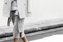 Grey / Grey outfits with sequins, sweaters, fur, sunglasses, bloggers and heels.