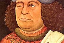 """OvW / Oswald von Wolkenstein (ca 1376/77-1445) knight and courtly singer one of the foremost poets of German literature """"The fifteenth-century South Tyrolean nobleman, Oswald von Wolkenstein, is now recognized by a growing number of critics as the most talented poet of his age, a genius capable of imbuing traditional literary forms with new content and fresh vigor.""""  George F. Jones, Oswald von Wolkenstein. TWAYNE'S WORLD AUTHOR SERIES. New York 1973"""