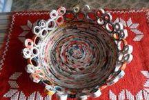 Reciclaje / Latas, papel, telas, lanas... tienen un nuevo uso.