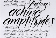 Calligraphy quotes / by English Wedding Blog