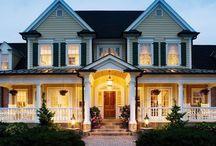 Home: Exterior / Houses, Porches, Exteriors I like for our future home