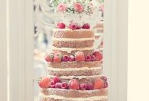 Cakes - naked / Because there's something incredibly tempting about seeing the jam inside... I adore naked cakes! / by English Wedding Blog