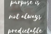 Find Your Purpose / Your purpose. Your passion. Your calling. Your vocation. The thing--or all the things--you were put on this earth to do.