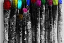 +Color - Over Black & White
