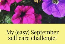 My (easy) Self Care Challenge / For September I've set myself an easy self care challenge! I'll share a self care idea I'm doing for each day this month! If you'd like to add your ideas to this board just send me a message and I'll add you! As I live with a chronic illness (ME/CFS) the ideas need to be easy! Read my blog post to learn more..