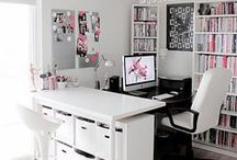 home office. / Home offices and office storage ideas.