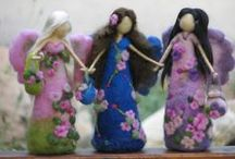 felted fairies / needle felt fairies