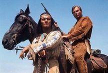 Winnetou, Old Shatterhand, westerny i Indianie