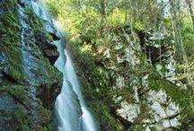 Waterfalls in Upstate South Carolina / Waterfalls and hiking trails in Upstate South Carolina