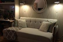 Omklädd soffa
