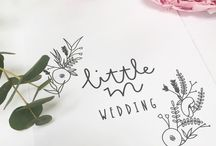 Little m Wedding / Our Wedding collection features semi custom wedding prints - perfect for a gift.  We also offer fully Bespoke prints, stationery and signage