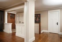 Trimmed Out Rooms / We love the use of trim and mouldings in these rooms.