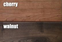 We Love Wood / The warmth of a cherry and the pale pine, two completely different looks. Each type of wood has it's own profile and we just love them.