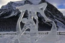 Arctic Diamonds / What beauty can be made from ice. Take a look at these chiseled ice sculpture beauties!