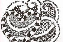 Zentangling / Zentangle galore, meditation through drawing