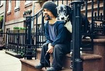 Famous people and their dogs / Znani ludzie i ich psy / Dogs of famous people.