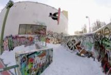 Urban Riding / Busting out sick tricks while skiing & riding in urban environments!