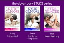 Clover Park STUDS Series by Kylie Gilmore / My books—Almost in Love, Almost Married, Almost Over It, Almost Romance, Almost Hitched—and muses. Actors for the movie version.