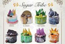 SUGAR TRIBE DRIP CAKES / Drip cakes by Sugar Tribe. Inspired by chef all of around the world