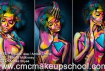 CMC Makeup School Classes / Makeup classes for body painting,  airbrush,bridal makeup, special fx, film, event, photography, prosthetics, glamour, fashion, runway and more. www.cmcmakeupschool.com