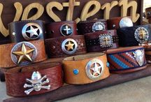 Western Collection / Repurposing belts into western style cuffs. www.casualcuffs.com