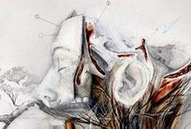 The oblivion of sleep / Title: The oblivion of sleep / La dimenticanza del sonno Dim: cm 60x60 Tecnique: oil and pencil on canvas / olio, matita su tela Year: 2014