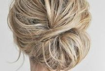 HAIR / Inspiration for bridal hairstyles, easy up-dos, haircuts and hair color