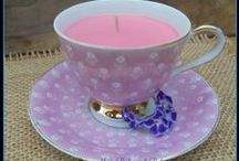 Soy Candles / Beautiful Soy Candles - Teacups, Travel, Teranium