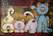 Gatinhos  / Artesanatos com gatos