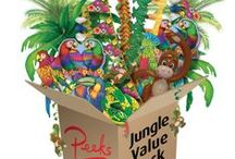 Jungle Party / Create a Jungle oasis with a range of vibrant decorations & party tableware.