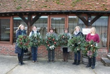 Christmas Wreath Making / Christmas Courses at The Sonning Flowers Flower School. www.sonningflowers.com