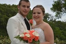 Taylor's Wedding- Coral Roses and Calla Lilies / Board used to plan a wedding for a bride desiring coral roses and white calla lilies.  / by Rosie's Floral Boutique