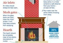 Fireplace & Chimney Safety / Tips for safety while using wood or gas fireplaces or grills