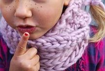 Handmade knitted accessories, by Princesse des Neiges.  / Knitted accessories handmade in France with natural yards.