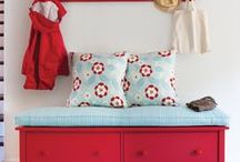 Aqua & Red Cottage
