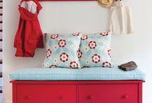 Aqua & Red Cottage