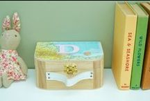 Children's Memory Keepsake Boxes / Wooden Memory and Keepsake Boxes from www.popsyclunk.etsy.com