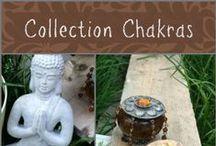 Collection Bijoux Chakras / Nouvelle collection de collier et bracelets en noisetier et pierres chakras.