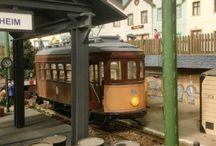 Sollertram van Mallorca / Zelfgebouwde tram op basis van de Lissabontram van Occre. Schaal 1/24
