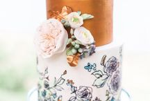 Painted Wedding Cakes / Artistically beautiful painted weddings cakes we wish we'd made!