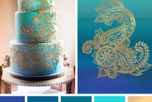 Pantone Colour Inspiration / What colour will your wedding be? Our board explores the different colours that work beautifully together and can be incorporated into a Bluebell Kitchen bespoke wedding cake design.