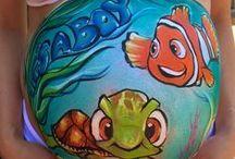 Prenatal Belly Painting / Some of my art for prenatal mommies.