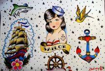 Tattoos - cool old school tattoos