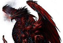 Saint george red dragon
