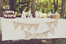 Rustic Weddings / Mason Jars, lace, and a little bit of country.