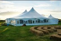 Poleadion Marquee / The Poleadion is a traditional marquee suitable for large weddings and events.