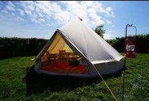 Bell Tent / Instantly recognisable, the humble Bell Tent remains a popular choice for the glamping connoisseur. Supported by a single central pole and covered by cotton canvas, our 5m bell tents are spacious and light.