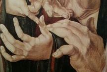 Festmény részletek, KEZEK,....XIVsz.-XVIII.sz. / kézfejek a műalkotásokon......